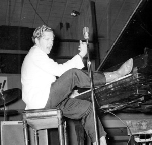 Jerry Lee Lewis at piano